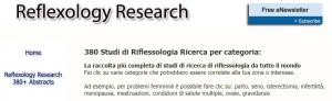 La ricerca sulla Riflessologia