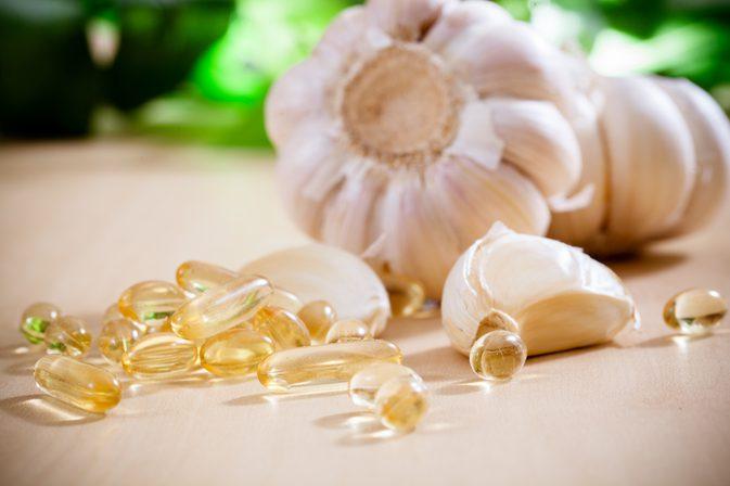 Capsule di aglio biologico per l'artrite reumatoide