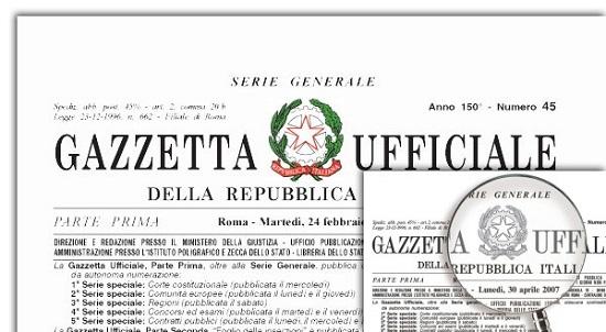 La Naturopatia e la Gazzetta ufficiale