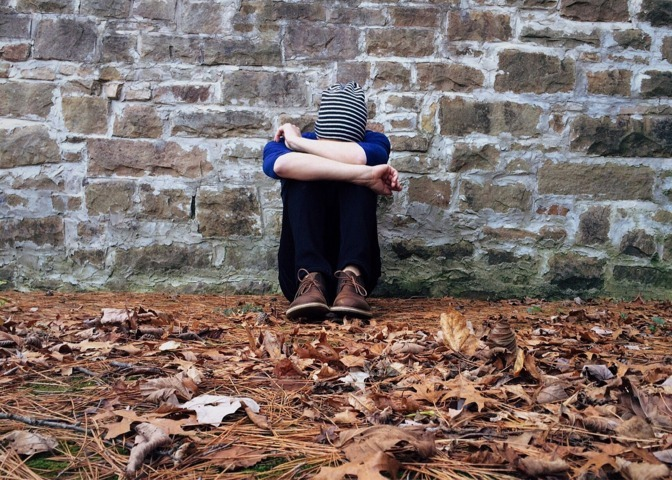 ragazzo in depressione